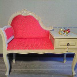 petit meuble, fauteuil téléphone
