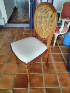 chaise louis XVI cannée après