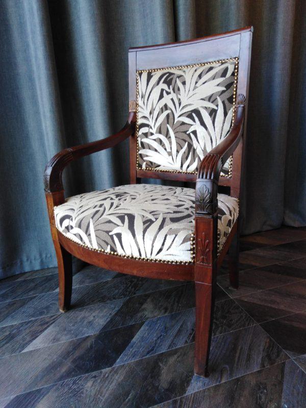 fauteuil empire tissu jungle